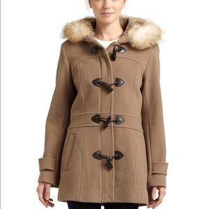 Marc New York Camel Wool & Cashmere Toggle Coat
